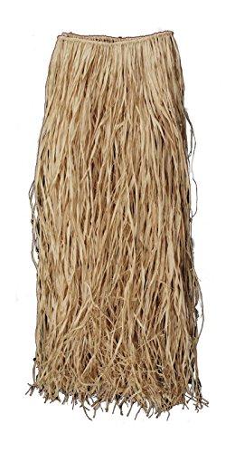 Luau Hula Girl Genuine Raffia Grass Skirt, Natural, 36