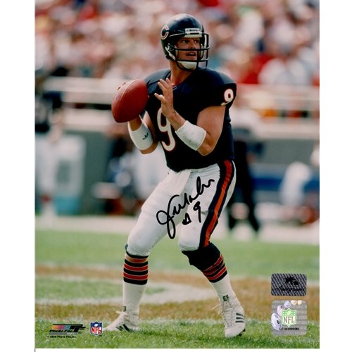 Jim Mcmahon Chicago Bears - Jim McMahon Autographed Chicago Bears (Blue Jersey) 8x10 Photo