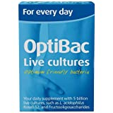 OptiBac Live Cultures - 'For every day' - 30 Capsules