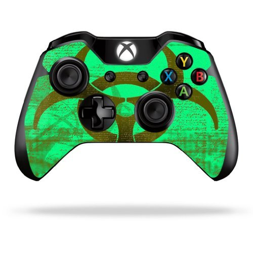 MightySkins Skin Compatible with Microsoft Xbox One or One S Controller - Biohazard | Protective, Durable, and Unique Vinyl wrap Cover | Easy to Apply, Remove, and Change Styles | Made in The USA