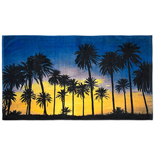 - Oversized Extra-Large Terry Cotton Beach Towe, 40x70
