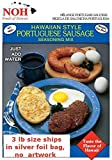 NOH Foods of Hawaii Portuguese Sausage Seasoning Mix, 3 Pound (Pack of 5)