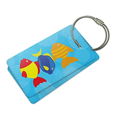 Tropical Fish Suitcase Bag ID Luggage Tag Set