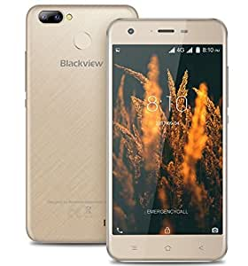 Blackview A7 PRO 4G Smartphone 5.0 inch IPS Screen Android 7.0 Triple Cameras 5MP + 0.3MP + 8MP 1.3GHz Quad Core 2GB RAM 16GB Dual SIM Bluetooth Fingerprint 2800mAh Battery Cell Phone (Gold)