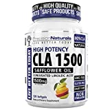 CLA Safflower Oil for Weight Loss, 1500/3000mg Conjugated Linoleic Acid Softgels/Pills Natural Best Fat Burner Diet Max Potency Supplement Pure Complex/Men/Women 17% More Potent Than CLA 1250 N