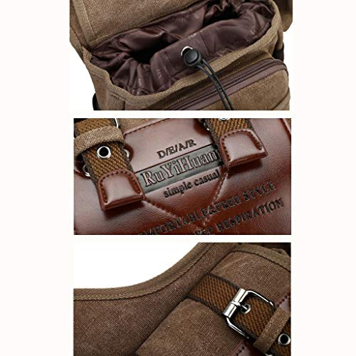 Men's Satchel Black Kaimeng Bags Cross Messenger Body Vintage Casual Travel Shoulder Canvas Bag TPqH5P