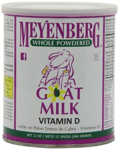 Meyenberg Whole Powdered Goat Milk, 12 Ounce (6 Pack)