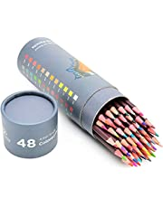 48 Oil Based Colored Pencils for Adults & Artists - Professional Pastel Color Pencils for Drawing, Sketching and Coloring Books - Soft Core Art Coloring Pencils Set with Skin Tone - Adults & Kids