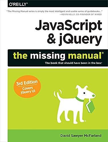 javascript jquery the missing manual david sawyer mcfarland rh amazon com javascript the missing manual review javascript the missing manual by david sawyer mcfarland pdf