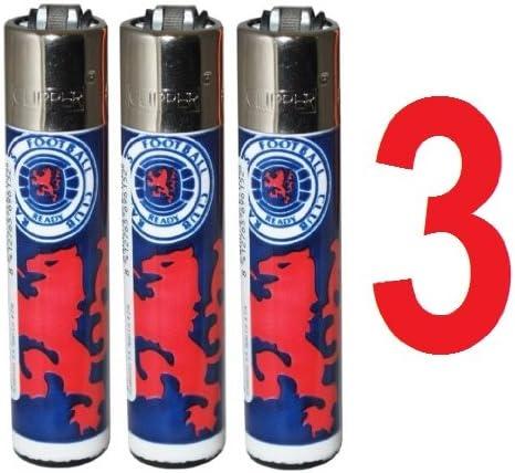 Glasgow Rangers FC Cortauñas encendedores Pack de 3 se envía ...