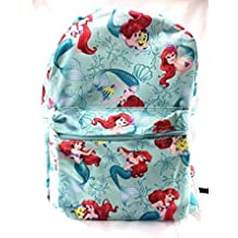 "Disney Princess Little Mermaid Allover Print 16"" Girls Large School Backpack"