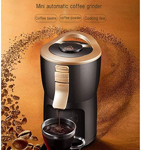 DDL Vollautomatische Kaffeemaschine-Maschine Grinder Haushalt bewegliche kleine Schleifen Kaffee, Bohnenpulver, Tee