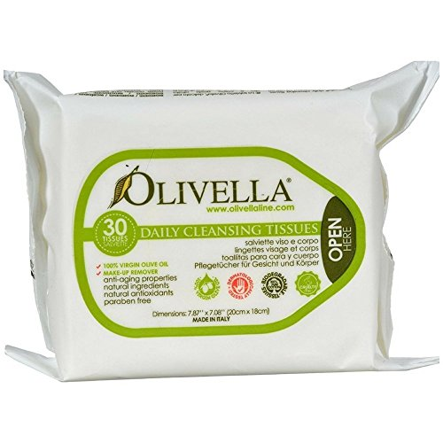 (Olivella Daily Cleansing Tissues 30 ea (Pack of 3) )