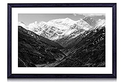 Amazon Com Annapurna Range Art Print Black Wood Framed Wall Art