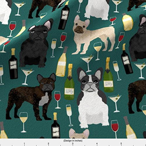 french bulldog fleece fabric - 2