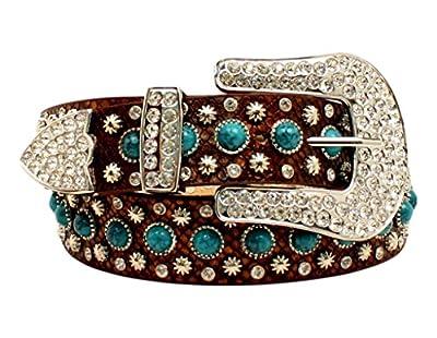 M&F Western Women's Turquoise Stone Snake Belt