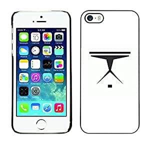 LECELL--Funda protectora / Cubierta / Piel For iPhone 5 / 5S -- Nave espacial minimalista --