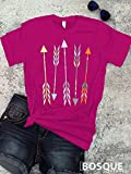 Arrows Aztec Boho Style T-Shirt / Adult T-Shirt Country Southern Style Tee - Ink Printed