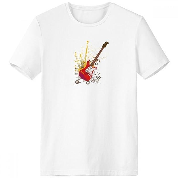 DIYthinker Guitarra eléctrica de la música de jazz Cultura de cuello redondo camiseta blanca de manga corta Comfort Deportes camisetas de regalos - Multi ...