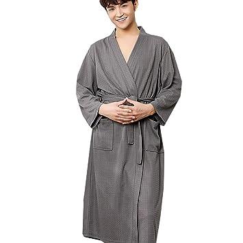 HONGNA Pijamas Hombres Y Mujeres Batas De Baño Sueltas ...