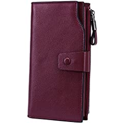 """Itslife focus on genuine leather wallets and bags.Known as""""Show the spirit of design and quality"""" Its bags' life,its your life.Material:Top Grain Leather with wax finish. Dimensions: 7.56""""L x 4.13""""W x 1.57""""H (19.2 x 10.5 x 4 cm) .Structure: 2..."""