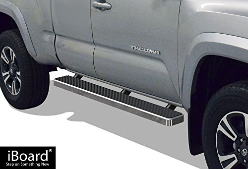 iBoard (Silver 5 inches) Running Boards | Nerf Bars | Side Steps | Step Rails for 2005-2019 Toyota Tacoma Access Cab Pickup ()