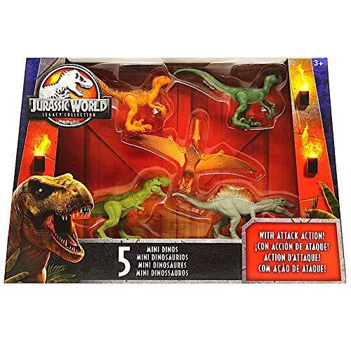 "Mini Dino 5 Pack Dinosaurs 2.5"" Jurassic World Legacy Collection with Spinosaurus from Jurassic World Dinosaur"