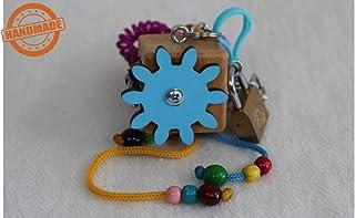 Montessori Motorikwürfel Holzspielzeug 'Blaues Wunder'