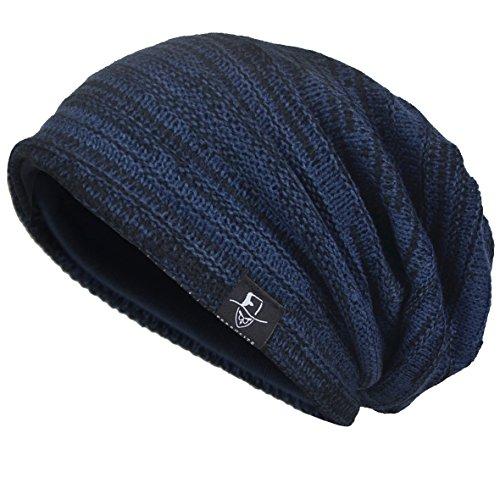 VECRY Men's Cool Cotton Beanie Slouch Skull Cap Long Baggy Hip-hop Winter Summer Hat ()