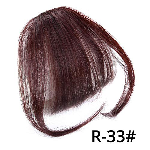 - Fake Long Blunt Bangs Hair Clip-In Extension Fake Fringe 100% Real Natural False Hairpiece For Women Clip In Bangs R33