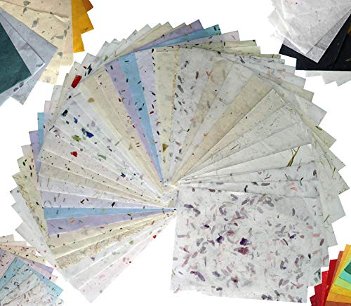 60 Sheets 8.5×11 Inches Mulberry Paper Sheet Design Craft Hand Made Art Tissue Japan Origami Washi Wholesale Bulk Sale…