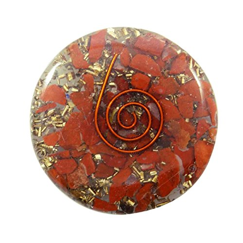 - Harmonize Jasper Reiki Healing Crystal Symbol Disc Orgone Red Spiritual Healing