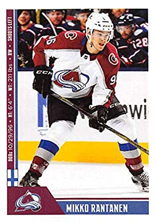 e092ac3f7 2018-19 Panini NHL Stickers  345 Mikko Rantanen Colorado Avalanche NHL  Hockey Trading Sticker