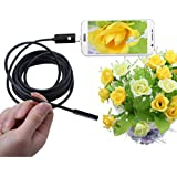 5.5mm USB/Android 2 in1 Endoscope, Ximandi Waterproof Borescope Inspection Camera CMOS HD Snake Camera with 6 Adjustable Led Lights(2m 5m 10m) (5m)