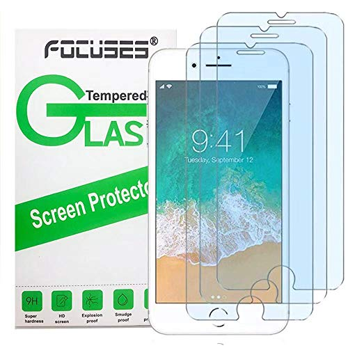 """Screen Protector iPhone 8,7,6S,6(4.7"""")(3 Pack),Focuses Anti-Blue Light Screen Protector Tempered Glass for iPhone 8/7/6S/6"""