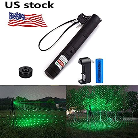 WORD GX High Power 532nm Green Beam Laser Pointer Laser Projector Pen Flashlight (Laser Pointer Green Focus)