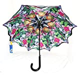 Multi Colored Flower & Roses Umbrella with Double - Best Reviews Guide