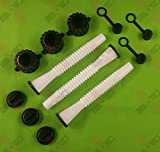 3 Sets Rubbermade Replacement Gas Can Spout Parts Kit Blitz, Rubbermaid