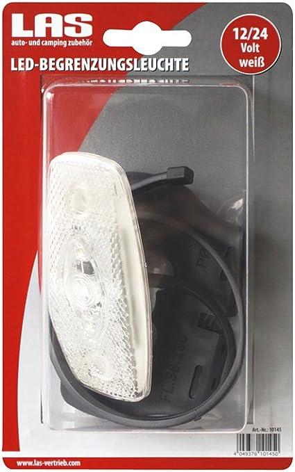 Las 10145 Led Begrenzungsleuchte Weiß Inklusive Halter Und Kabelschnellbefestigung Auto