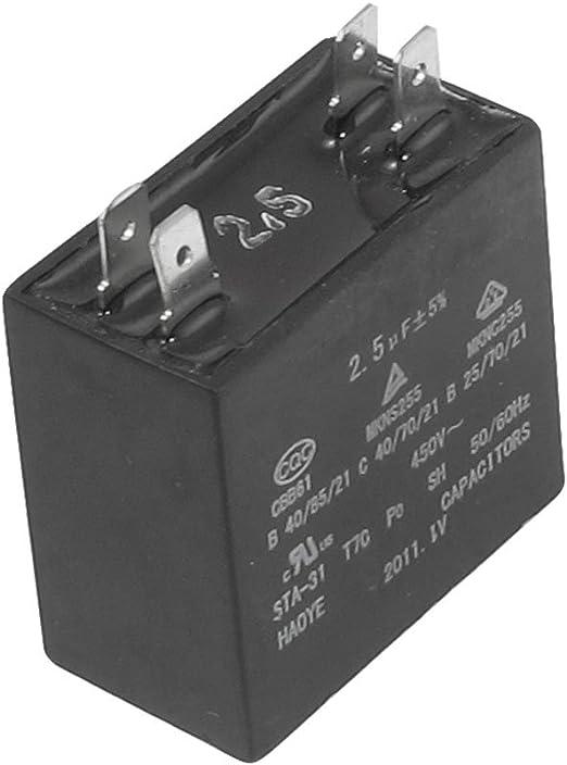 Aexit 450VAC 2.5uF 4 terminales aire acondicionado (model ...