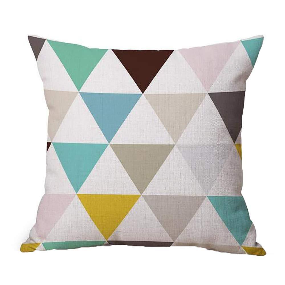 Dragon868 Kissen H/ülle Geometrische Muster Tiermalerei Leinen Pillowcase Dekorative Kissen Abdeckungen 45x45 cm