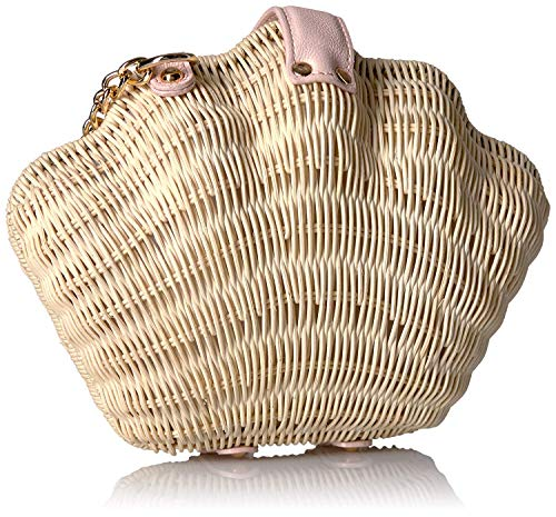 Betsey Johnson What the Shell Straw Wicker Crossbody, Tan from Betsey Johnson