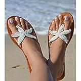 Aspiga Starfish White Flat Leather Sandals