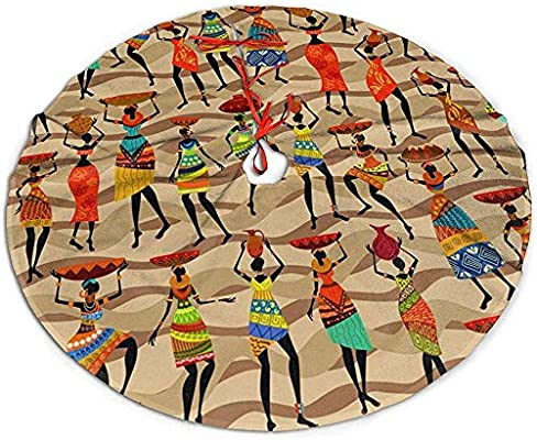 Myrdora Falda de árbol de Navidad Mujeres africanas Decoración de ...