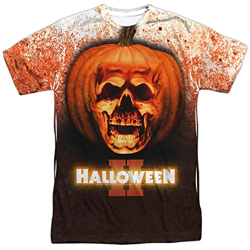 Halloween II 1981 Horror Thriller Slasher Movie Poster Adult Front Print T-Shirt]()