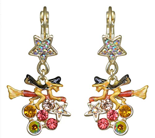 Kirks Folly Witches Brew LEVERBACK Earrings Goldtone