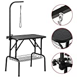 Yaheetech 32'' Foldable Pet Cat Dog Grooming Table w/arm & Noose & Mesh Tray