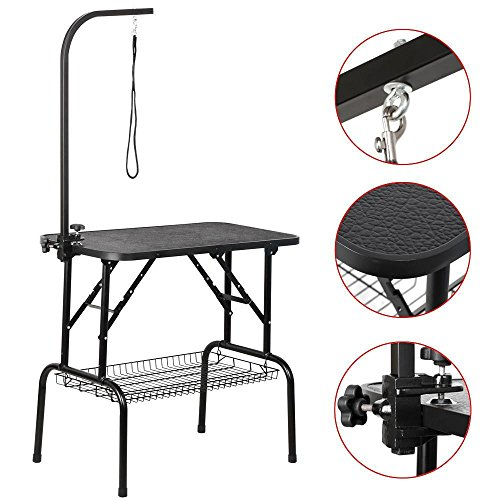 Yaheetech 32' Foldable Pet Cat Dog Grooming Table w/arm & Noose & Mesh Tray