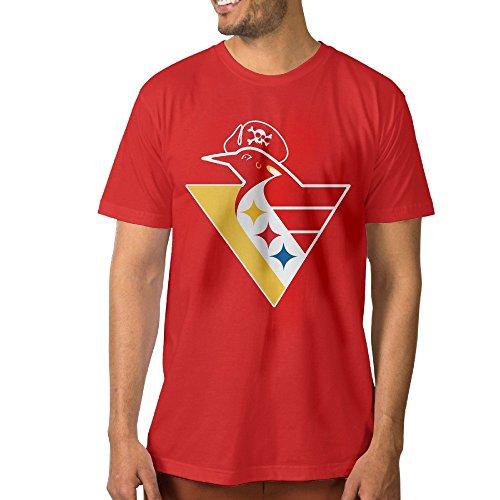 PTCYM Penguin Ice Hockey King Make Your Own Men's T Shirt L Red