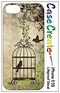 Birdcage Bird Cage Vintage Decorative Sticker Decal for your iPhone 5 5S Lifeproof Case